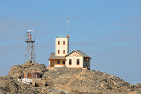 luderitz: The old and new lighthouses on Shark Island at  Luderitz in Namibia