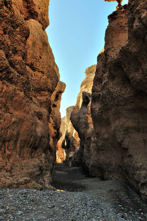 The Sesriem Canyon near Sossusvlei in Namibia