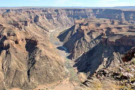 Fish River Canyon, Hobas, Namibia  Second largest canyon on Earth