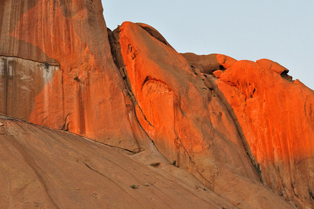 spitzkoppe: Spitzkoppe in Namibia at sunset