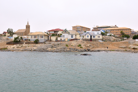 luderitz: View from Shark Island of the seaside town of Luderitz in Namibia