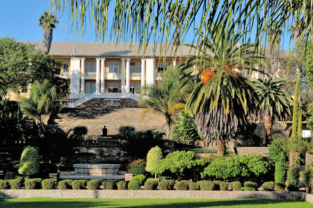 WINDHOEK, NAMIBIA - MAY 2011  View of the parliament building, called the Tinten Palast or Ink Palace, in Windhoek, Namibia  Photo taken on May 17th, 2011 Editorial