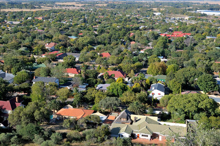 The North-eastern suburbs of Bloemfontein as seen from Naval Hill Stok Fotoğraf