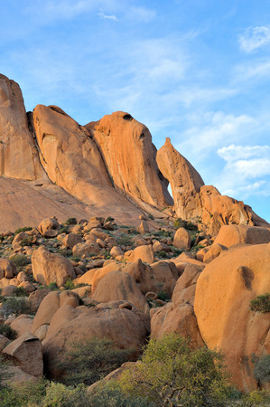 Rock formation at Spitzkoppe near Usakos in Namibia
