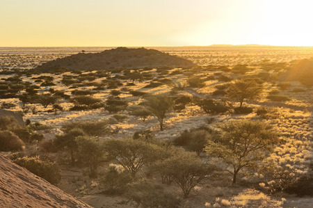 spitzkoppe: Long shadows as the sun sets at Spitzkoppe in Namibia