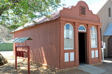 relocated: Oldest house in Kimberley, South Africa. Prefabricated in England 1877. Relocated to Big Hole in Kimberley 1952 Editorial