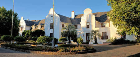 Panorama of Oliewenhuis Art Museum in Bloemfontein, South Africa. Previously official home of State President of South Africa Reklamní fotografie - 32966072