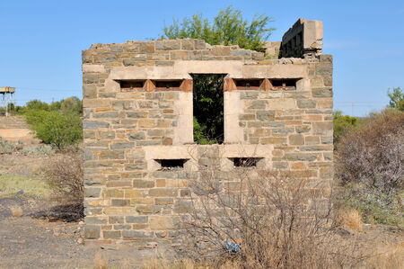 boer: Blockhouse at Leeu-Gamka in the Northern Cape Province of South Africa. Used by the British troups to defend the railway bridge during the second Boer War 1899-1902.