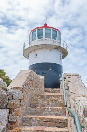 table mountain national park: Historic lighthouse at Cape Point in the Table Mountain National Park in Cape Town, South Africa. In operation from 1860-1919