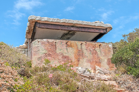 table mountain national park: Derelict military observation post from World War II at Cape Point in the Table Mountain National Park in Cape Town, South Africa.