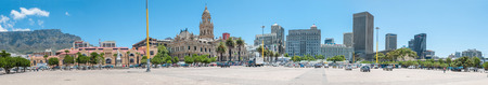 CAPE TOWN, SOUTH AFRICA - DECEMBER 2014: Panorama of the city center and city hall. On February 11, 1990, Nelson Mandela made his first public speech after his release from the balcony of city hall Editorial