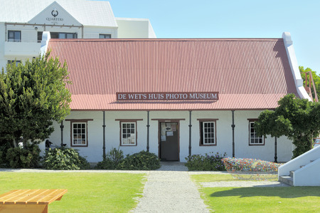 sunday school: HERMANUS, SOUTH AFRICA - DECEMBER 2014: The De Wet Huis Photo Museum was originally a Sunday school house re-erected at its present site. It houses photographs that document the history of Hermanus.