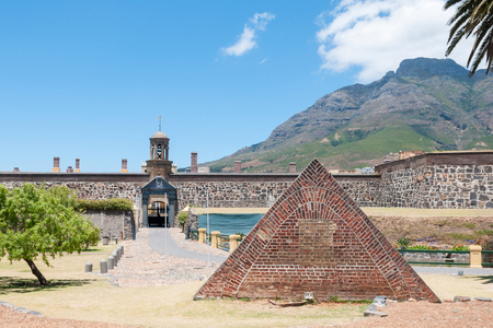 cape of good hope: Powder magazine in front of the Castle of Good Hope in Cape Town. Built by the Dutch East India Company between 1666 and 1679 and is the oldest existing colonial building in South Africa.