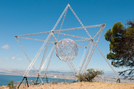 robben island: The Sunstar on Signal Hill, Cape Town is a beacon of hope forged from the repurposed fence that used to surround Robben Island