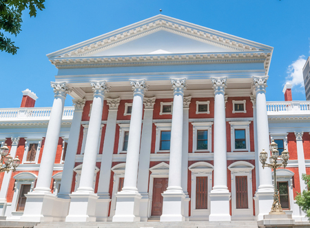 south western: Parliament buildings in Cape Town, South Africa Stock Photo