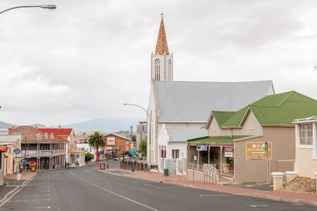 CALEDON, SOUTH AFRICA - DECEMBER 25, 2014: Street scene in Caledon, an important town in the Overberg region in the Western Cape Province of South Africa.
