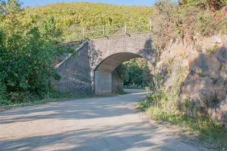 south africa soil: Railroad bridge in the Montagu Pass over the Outeniqua Mountains between Herold and George