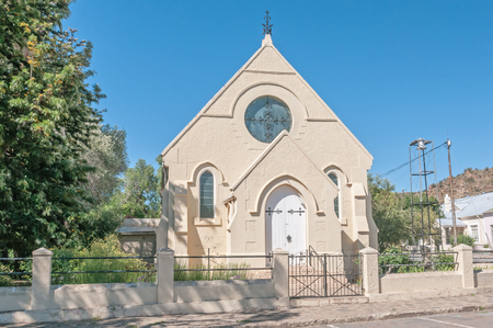 methodist: COLESBERG, SOUTH AFRICA - DECEMBER 1, 2014: The historic old Trinity Methodist Church was built in 1882