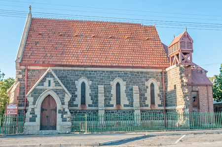 northern african: NOUPOORT, SOUTH AFRICA - JANUARY 6, 2015: British war museum in the building of the former historic Anglican Church