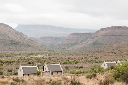 chalets: Karoo National Park landscape with chalets of the rest camp in the foreground