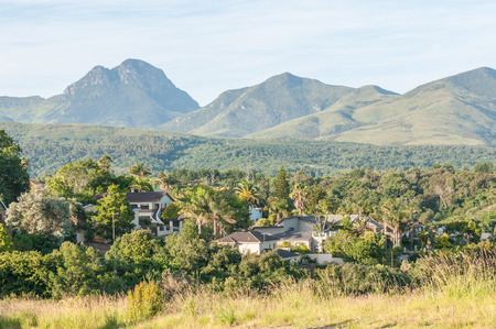 GEORGE, SOUTH AFRICA - JANUARY 4, 2015: View of one of the suburbs in George with the Outeniqua Mountains in the background