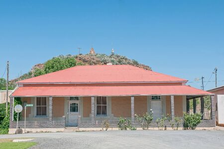 northern african: Historic old house in Hanover with Trappieskop in the background
