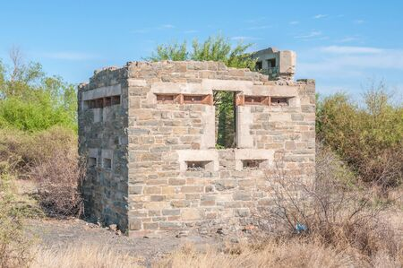 boer: Blockhouse used by the British troups to defend the railway bridge during the second Boer War 1899-1902.