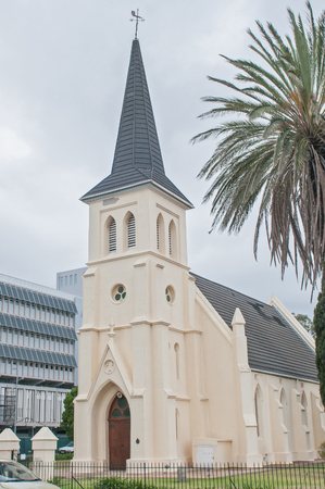 lutheran: The Evangelical Lutheran Church in Worcester, Western Cape Province Stock Photo