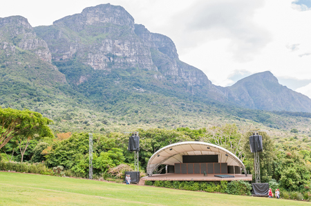 CAPE TOWN, SOUTH AFRICA - DECEMBER 9, 2014: A concert venue below Table Mountain in the  Kirstenbosch National Botanical Gardens in Newlands, Cape Town Editorial