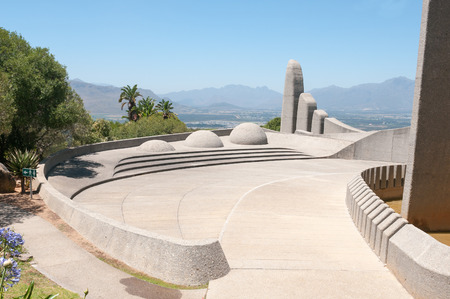 Monument commemorating the development of the Afrikaans language in Paarl, South Africa