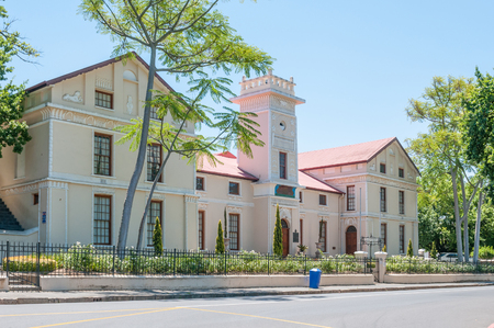 Original building of the Paarl Gymnasium, an Afrikaans Boys High School, opened in 1858