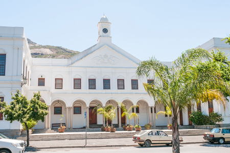 PAARL, SOUTH AFRICA - DECEMBER 11, 2014:  The Town Hall in Paarl. Paarl is the Dutch for pearl