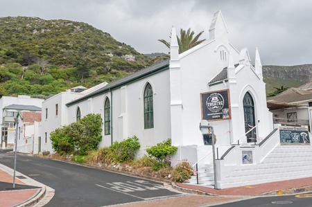 seater: CAPE TOWN, SOUTH AFRICA - DECEMBER 12, 2014:  The Kalk Bay 79 seater dinner theatre was built in the old Dutch Reformed Church