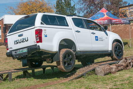 capabilities: BLOEMFONTEIN, SOUTH AFRICA - APRIL 28, 2015: Display of the capabilities of 4x4 vehicles at the yearly Bloemfontein Show