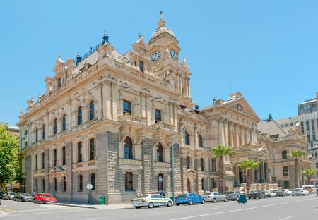 nelson mandela: CAPE TOWN, SOUTH AFRICA - DECEMBER 18, 2014: The historic city hall. On February 11, 1990, Nelson Mandela made his first public speech after his release from the balcony