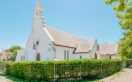 anglican: St. Mary Anglican Curch in Stellenbosch. Building commenced 1852 Stock Photo