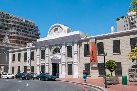 housed: CAPE TOWN, SOUTH AFRICA - DECEMBER 18, 2014:  The Iziko Museum of slavery is housed in the historic old Supreme Court building