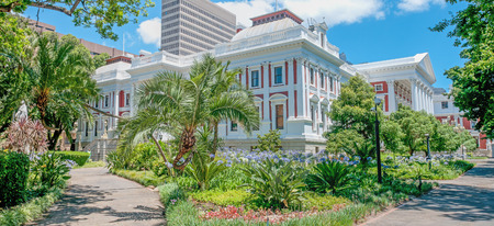 south western: The Parliament buildings in Cape Town South Africa were completed in 1885 Stock Photo