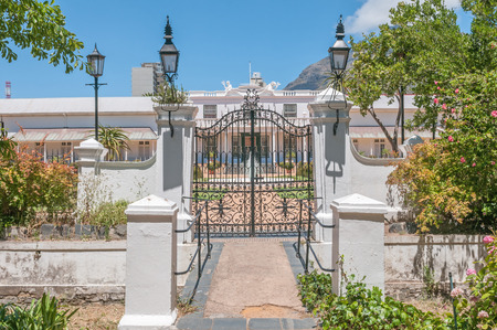 One of the entrances to De Tuynhuys Garden House. It is the Cape Town office of the President of the Republic of South Africa.  The current building dates circa 1682