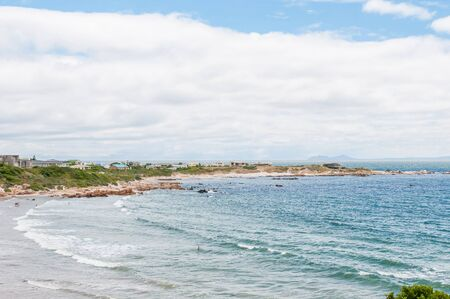 els: ROOI ELS SOUTH AFRICA  DECEMBER 23 2014: Unidentified people at a beach in Rooi Els near Gordons Bay