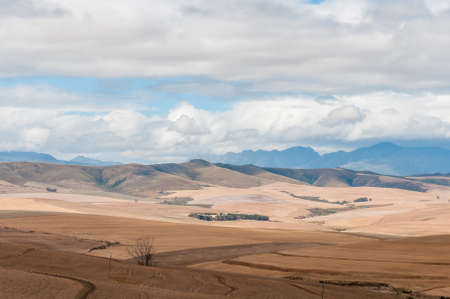 bot: View of the countryside between Bot River and Caledon in the Overberg region of the Western Cape Province of South Africa