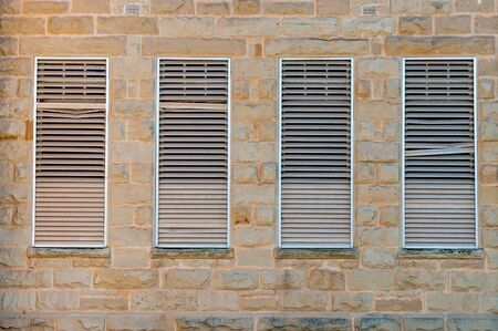 Louvre windows in a historic building in Oudtshoorn South Africa