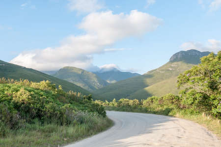 south africa soil: The historic Montagu Pass over the Outeniqua Mountains between Herold and George Stock Photo