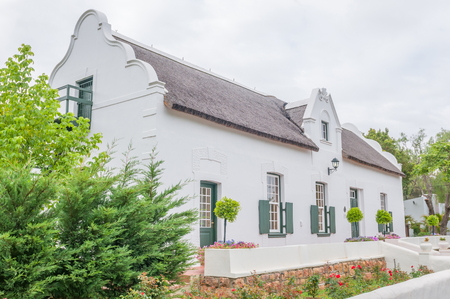 SWELLENDAM SOUTH AFRICA  DECEMBER 26 2014: Historic old house in Cape Dutch architectural style