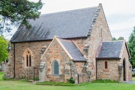 anglican: The historic St. Georges Anglican Church in Knysna was built in 1855 and is a national monument Stock Photo