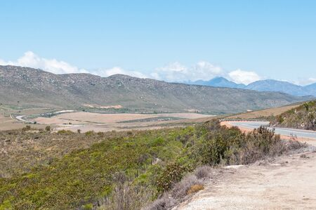 View from the Potjiesberg pass near Uniondale. Stock Photo