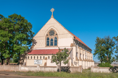 northern african: KIMBERLEY SOUTH AFRICA  APRIL 5 2015: The Parish of All Saints Anglican Church in Beaconsfield Kimberley. Editorial