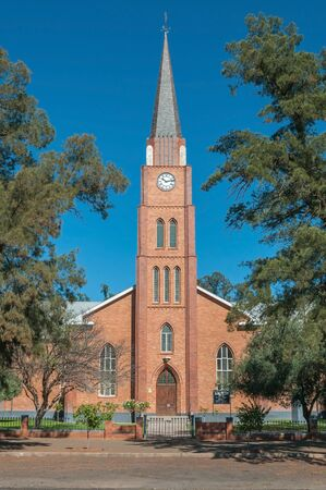 BOSHOF SOUTH AFRICA  APRIL 5 2015: The Dutch Reformed Church in Boshof a small town in the Free State Province of South Africa. It was built in 1874