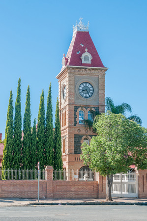 public works: Clock tower at the regional offices of the Department of Public Works in Kimberley