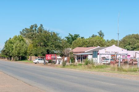 south africa soil: DEALESVILLE, SOUTH AFRICA - APRIL 6, 2015: Street scene in Dealesville in the Free State Province of South Africa